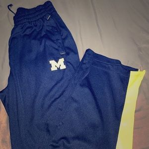 Michigan Adidas Track Pants